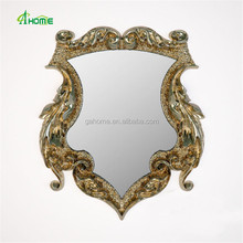 well designed gold round dressing mirror hanging makeup wall mirror