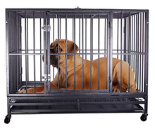 Metal square tube material large dogs cages and crates for sale
