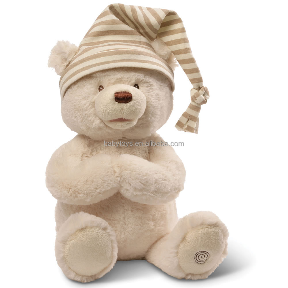 Personalized animated praying bear stuffed bear toys for promotional gifts