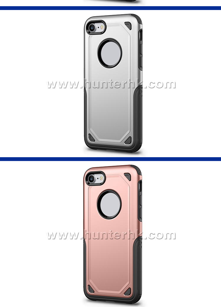 2 in 1 Shock Proof Back Cover For iPhone 8