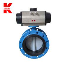 stainless steel pneumatic hand wheel flange butterfly valve