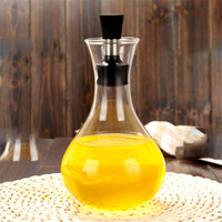 pure hand high quality elegant large capacity glass oil bottles