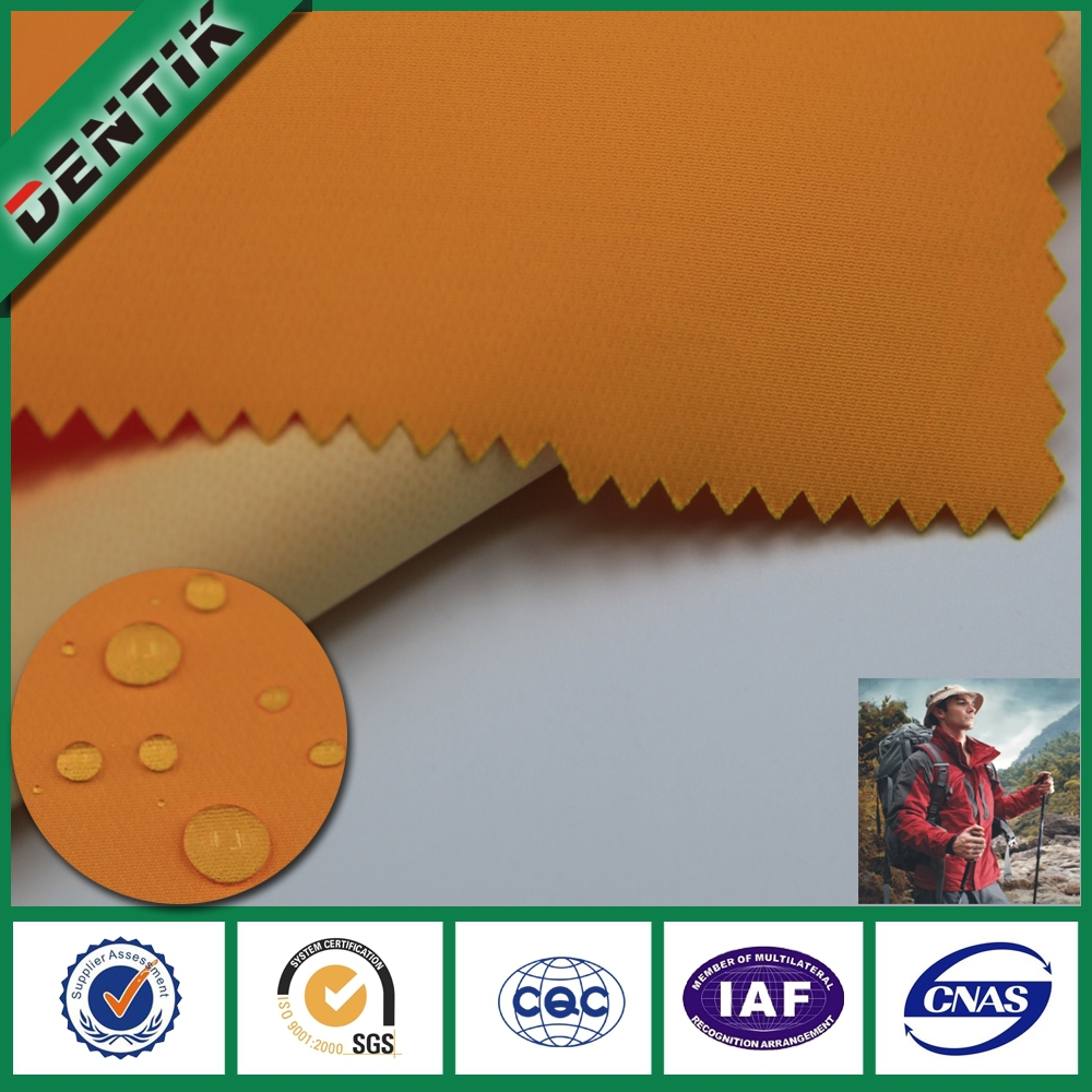 2 layers DENTIK waterproof washable flexible fabric with PTFE menbrane for garment
