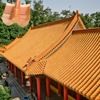 chinese traditional roof tiles/red clay roof tiles/colorful stone chip coated roof tile ML-001