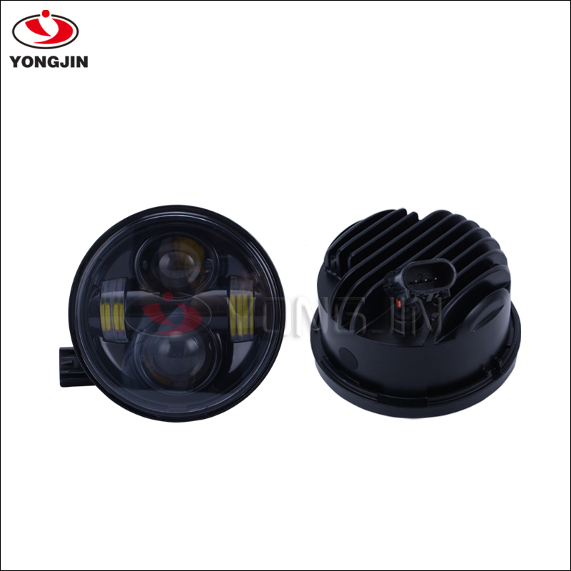 Car accessories led motorcycle round fat bob dual headlight kit 5 inch for Harley led accessories H4 head light motorcycle