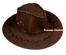 Dark Brown Western Cowboy Cowgirl Cattleman Hat For Adult Party Costume CH004