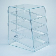 4 Tier Clear Acrylic Bakery Donut Pastry Display Case Cake Bread Food Display Cabinet