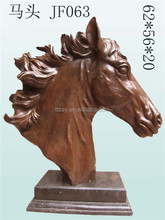 Cast decoration head of horse bronze statue outdoor