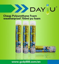 Large Expansion Aerosol Spray Construction PU Foam / Polyurethane Mastic