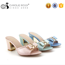 china market shoes sandals no lace bow-knot lady slipper high heel metal women slipper