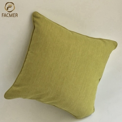 Low MOQ green color 45*45 back support high quality Jacquard cushion cover for sofa