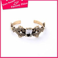 new popular fashion punk jewelry in hong kong,custom wholesale mens expandable iron charm cuff bracelet