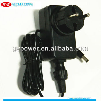 Euro 12V/2A Plug-in waterproof power adapter IP44 for CCTV ,LED