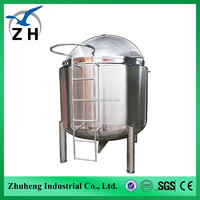 Vertical or horzontal oil crude storage tank with heating