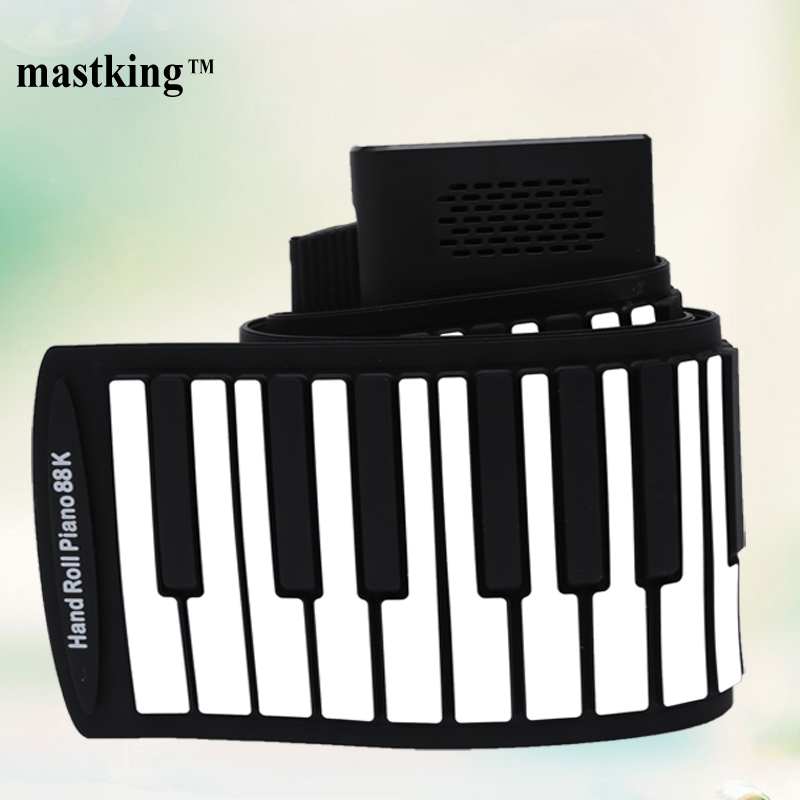 88 keys silicone midi electronic hand roll up piano portable piano 88keys for children christmas gifts