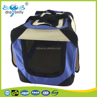 pet soft crate,blue color strong double pet carrier