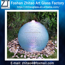 Garden decoration LED round laminated glass