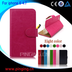 new arrival leather case for iphone6, hot selling for iphone6 case