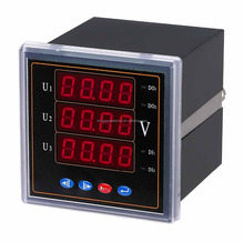 three phase three/four wire multifunction digital power meter RS 485 LED/LCD display