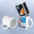 China traditional white ceramic mugs with modern heat transfer ways for custom gift in AU