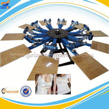 6 color six station manual carousel t shirt screen printing press with mico registration for sale