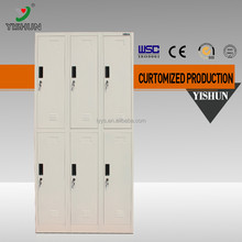 Hot selling 6 door wardrobe waterproof storage closet /classroom cabinet