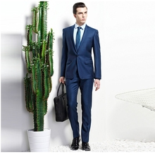 Tailor Made Korean Style Pinstripe Peaked Lapel Suits For Men