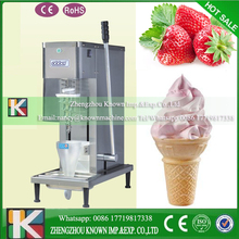2017 popular high efficiency frozen yogurt ice cream blending machine fruit ice cream mixer machine with good feedback