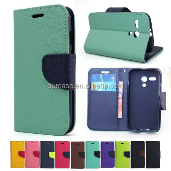 Colorful book style phone flip leather case for lenovo A806 with stand function and card slot