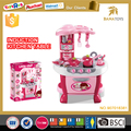 Induction girl children cooking play toy toy kitchen play sets