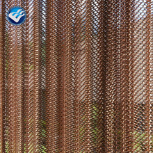 ss metal 3D chain link curtain/golden wire mesh for hanging mesh for sale