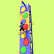 Mobile Climbing Wall Toddler Indoor Climbing Toys Wall Padding for Kids