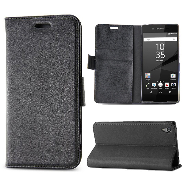 C&T Handmade Premium PU Leather Folio Wallet Case for Sony Xperia E5