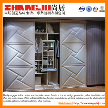2014 new style teak wood wardrobe factory wardrobe