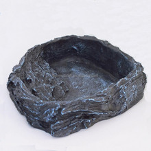 Resin artificial rock reptile bowl