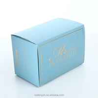 Custom Design Elegant White Rigid Collapsible Cardboard Dessert Box
