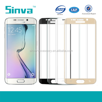 High quality 0.2mm 3D hot bending curved edge screen protector for S6 edge plus full cover tempered glass factory