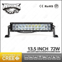 Winning China Supplier Offroad Light Bar Auto Led Driving Light 72w Led Bar Light