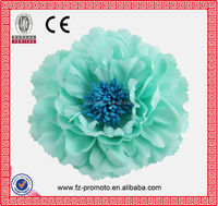 Latest design peony fabric brooch flower hot sale decoration flower fabric brooch peony