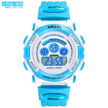 Smael 0704 Best Selling Student Children Watch Luminous Water Proof Digital Quartz Movement PU Strap Boy and Girl Watch