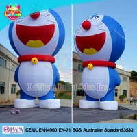 PVC hot sale customize 10m high inflatable cartoon cat