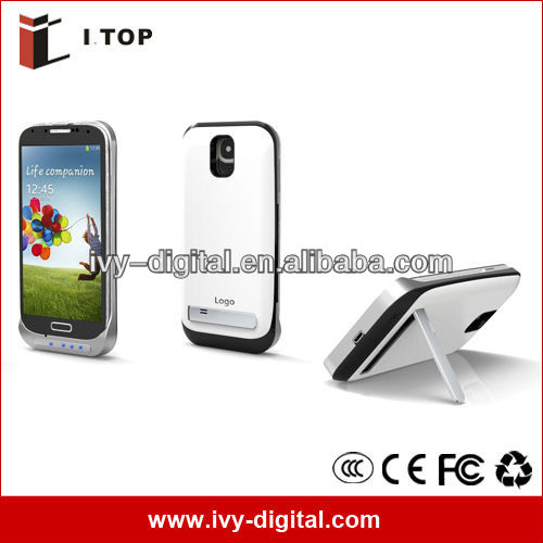 New 3200 mAh for Samsung Galaxy S4 i9500 External Backup Battery Case Power Bank White