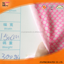 Pink hexagonal hole composite polyester mesh fabric