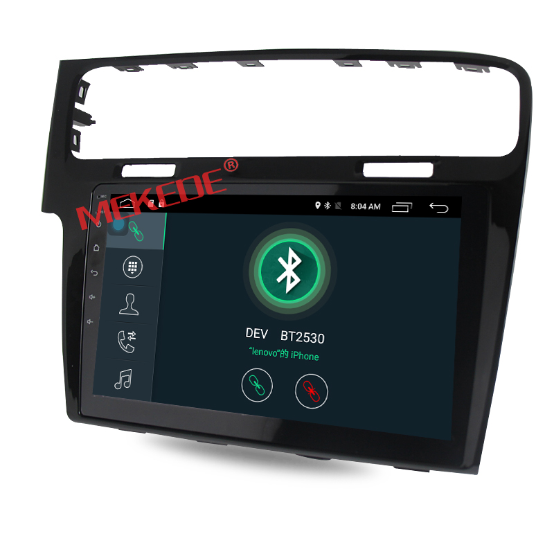 Android7.1 HD 1024*600 Quad Core Car Radio GPS Navigation Stereo Player For VW Golf 7 MK7 VII 2012-2015
