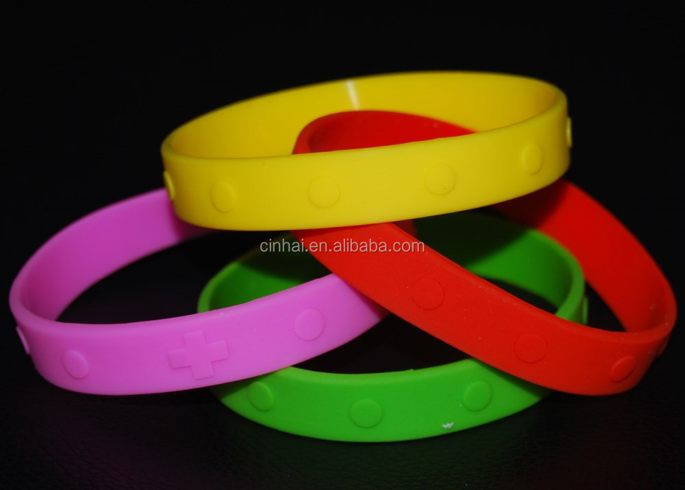personalized embossed and engraved silicone wristbands