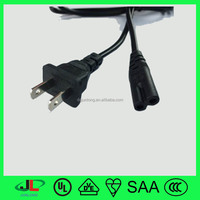 UL listed USA 2 prong ac power cord electrical plug C7 extension cord