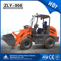Hot 4wd agricultural/garden farm front end loader ZLY908 with high quality and low price