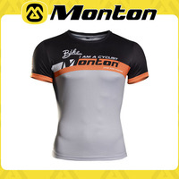 Fly-freely 2015 perfect-time design high quality men's orange short sleeve cycling/biking/sports T-shirts with thermal print