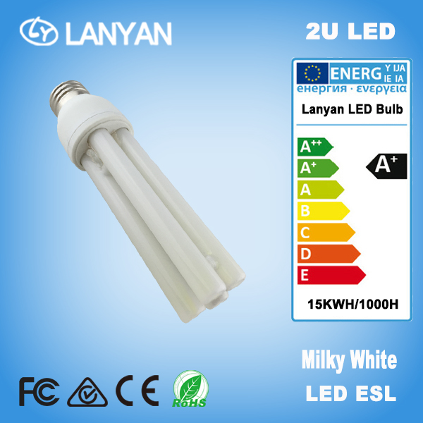2016 hot led bulb news energy saving 2U 9W led light bulb