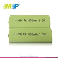 Industrial battery 1.2V F6 800 mah ni-mh batteries chewing gum The walkman phone emergency lights